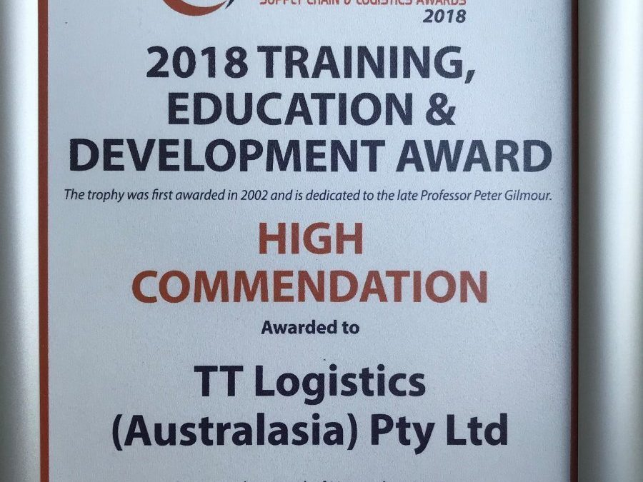 2018 Training Education Development Award